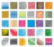 ustawia swatches tekstury Fotografia Stock