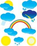 ustawia symbol pogodę Fotografia Stock