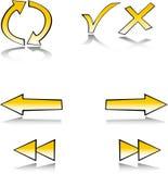 ustawia symbol sieć royalty ilustracja