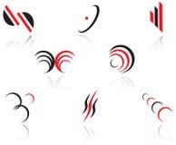 ustawia symbole Fotografia Stock