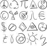 ustawia symbole Obraz Stock