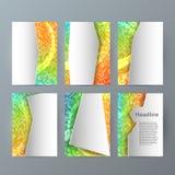 Ustawia szablon broszurki mockup mozaiki pionowo łunę effect03 Obrazy Stock