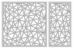 Ustawia szablon dla ciąć streszczenie schemat linii Laseru cięcie Rati ilustracji