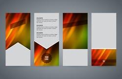 Ustawia szablon ulotki pionowo układu gorącą łunę effect03 Obrazy Royalty Free