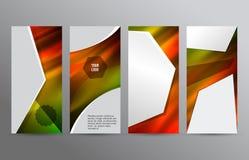 Ustawia szablon ulotki pionowo układu gorącą łunę effect07 Obraz Stock