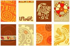 Ustawia sztandar, tło, ulotka, plakat z Amerykańsko-indiański ilustracja wektor