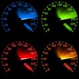 ustawia szybkościomierz ilustracja wektor