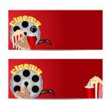 Ustawia tła dla kina Obraz Stock