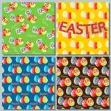 Ustawia tło Wielkanocnych wakacje, abstrakt z Easter jajkami Zdjęcia Royalty Free