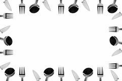 ustawia tableware Fotografia Stock