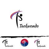 Ustawia Taekwondo loga Zdjęcia Royalty Free