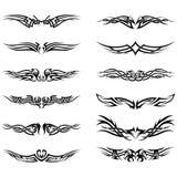 ustawia tatuaże plemiennych Zdjęcia Stock