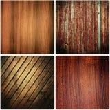 ustawia tekstury drewniane Obrazy Royalty Free