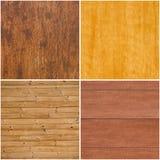 ustawia tekstury drewniane Zdjęcie Royalty Free