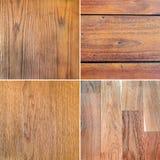ustawia tekstury drewniane Obraz Stock