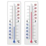 ustawia termometry Zdjęcie Stock