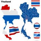 ustawia Thailand Fotografia Stock