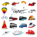 ustawia transport ilustracji