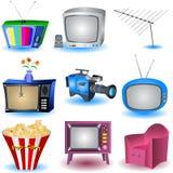 ustawia tv Zdjęcie Stock