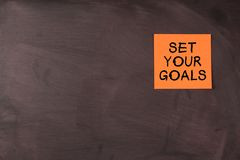 Ustawia twój cele Zdjęcia Stock