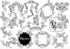 Ustawia tworzyć rocznik ramę royalty ilustracja