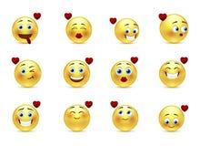 Ustawia valentine smilies Fotografia Royalty Free