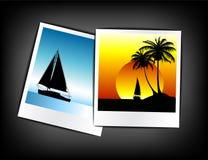 ustawiać wakacje kolorowe fotografie royalty ilustracja