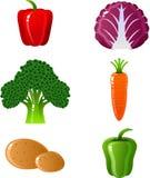 ustawia warzywa Zdjęcia Stock