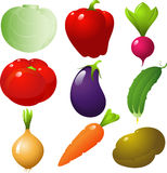 ustawia warzywa Obraz Stock