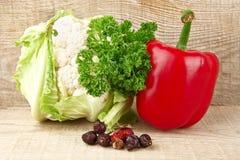 Ustawia warzywo owoc witamina C pełno fotografia stock