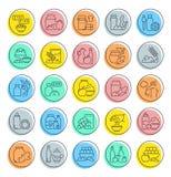 Ustawia wektor Kreskowe ikony Karmowi Additives Zdjęcia Stock