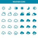Ustawia wektor pogodowe ikony Zdjęcia Stock