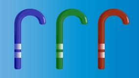 Ustawia Wektorową ilustrację cukierek dla bożych narodzeń i nowego roku Zdjęcie Stock