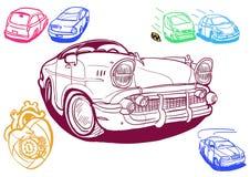 Ustawia wiele samochody Zdjęcie Royalty Free