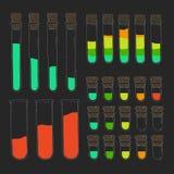 Ustawia wyrównywacz w postaci tubk Muzyki kontrola Obraz Stock