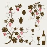 ustawia wytwórnia win Obrazy Stock