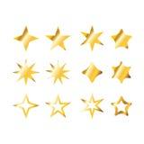 Ustawia złoto gwiazdę ilustracji