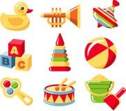 ustawia zabawki ilustracji