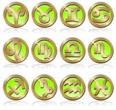 ustawia znaki vector zodiaka Fotografia Royalty Free