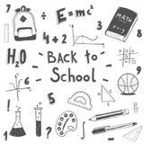 ustawiająca doodle tylna szkoła Fotografia Stock