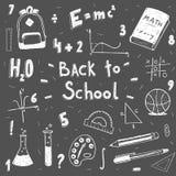 ustawiająca doodle tylna szkoła ilustracja wektor