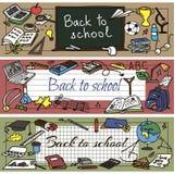 ustawiająca doodle tylna szkoła Fotografia Royalty Free