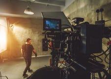 Ustawiająca film kamera zdjęcia stock