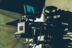 Ustawiająca film kamera zdjęcie stock