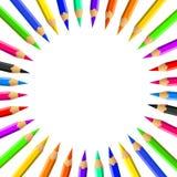 ustawiający barwioni ołówki obraz royalty free