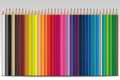 ustawiający barwioni ołówki Obrazy Royalty Free
