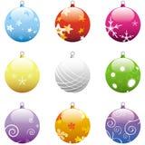 Ustawiający Boże Narodzenie Ornamenty Zdjęcia Royalty Free