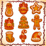 ustawiający Bożych Narodzeń ciastka Zdjęcie Stock