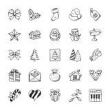 ustawiający Bożych Narodzeń doodles royalty ilustracja