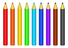 ustawiający colour ołówki Obrazy Stock